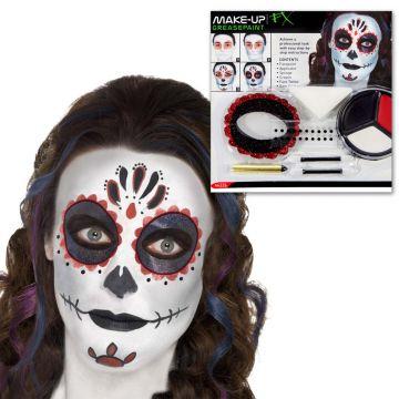 Halloween Sugar Skull Make Up Set Schminke Mexikanische Tag Der