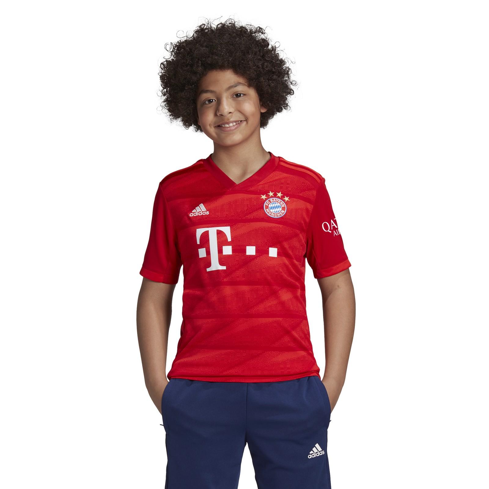 adidas-FC-Bayern-Muenchen-Heimtrikot-Kinder-2019-2020-Home-Jersey-rot-DX9253 Indexbild 15