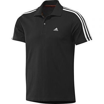 5f2d29aa942c6b adidas 3-Stripe Poloshirt Herren Polohemd Polo Kurzarm ClimaCool  schwarz weiß