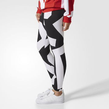 b38cab92a5d300 adidas Originals Bold Age Damen Leggings Freizeit Tight Leggins schwarz/weiß