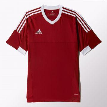 Details zu adidas Tiro 15 DryDye Trikot Fußball Jersey Shirt rotweiß S22363