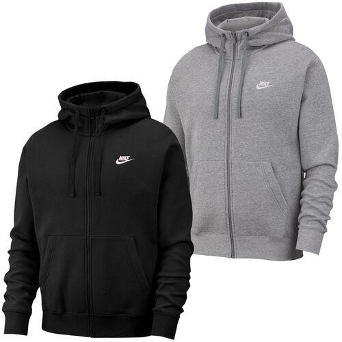 Détails sur Nike Sportswear Club Fleece Hoodie Capuche sweatpullover NoirGris afficher le titre d'origine