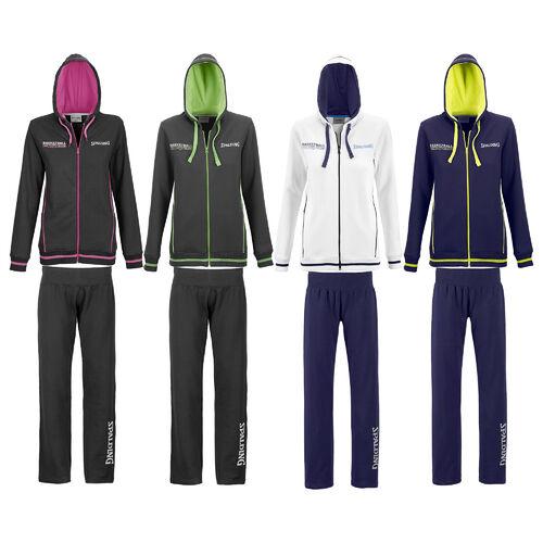 Details zu Spalding Team Trainingsanzug mit Kapuze 4Her Basketball Jogginganzug Fitness