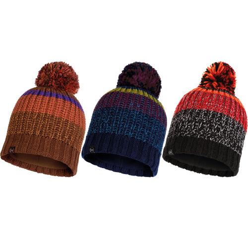 BUFF® Knitted /& Fleece Hat Airon Bommelmütze Wintermütze Mütze Strickmütze