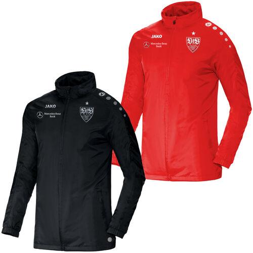 Details zu Jako VfB Stuttgart Teamline Regenjacke Sport Fan Fussball Jacke ST7493