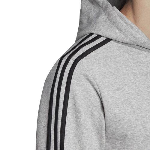 Details zu adidas Essentials 3 Streifen Trainingsjacke Sweatjacke Kapuzenjacke grau DU0473