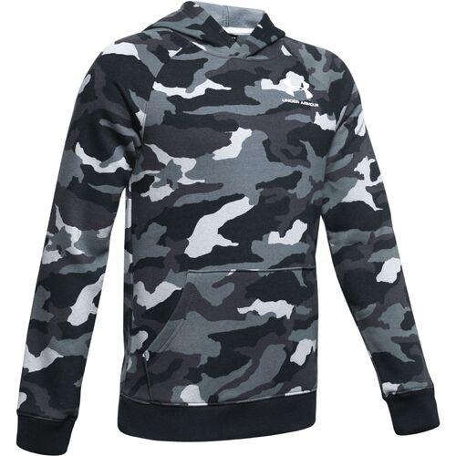 YXS Under Armour Jungen Cotton Fleece Full Zip Oberteil Schwarz