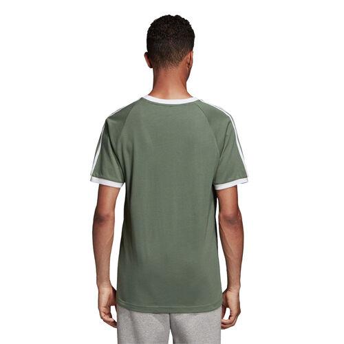 T Shirt Herren Club 3 Stripes colore grün Adidas