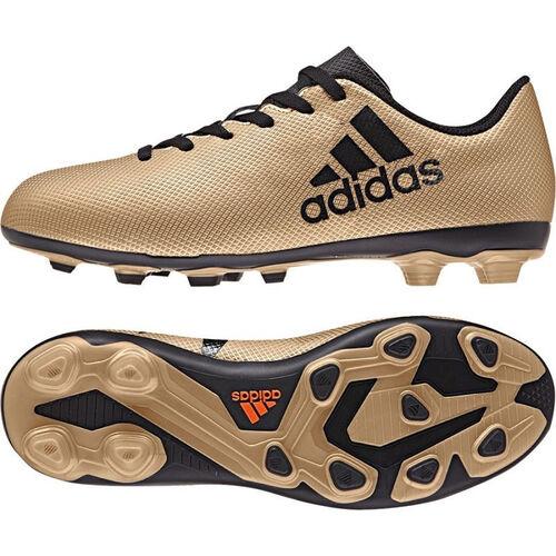 Details zu adidas X 17.4 FG Kinder Fussballschuhe Rasen gold CP9013
