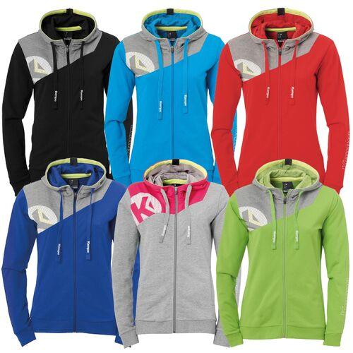 Details zu Kempa Core 2.0 Kapuzenjacke Damen Sweatshirt Pullover Handballkleidung Jacke