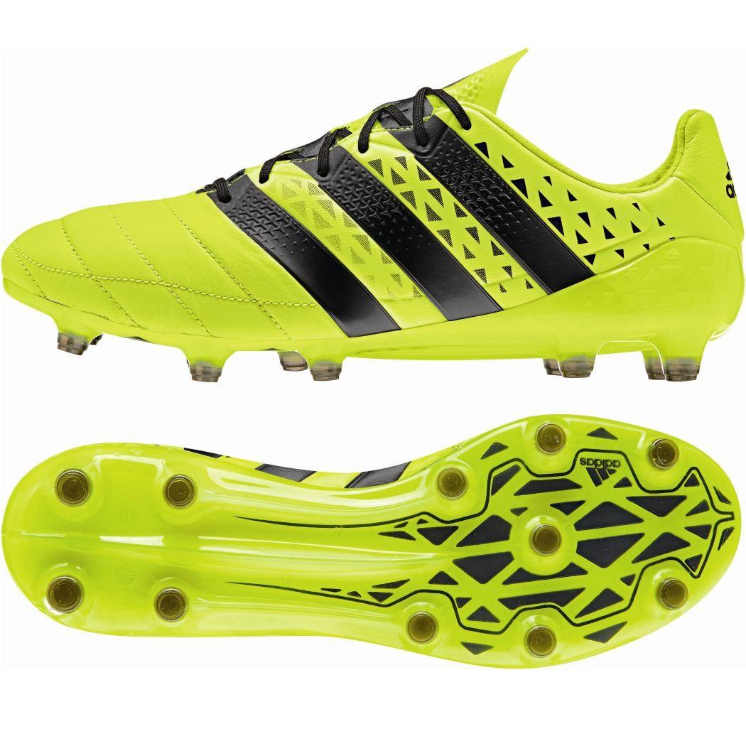 newest 5aabc 2bee9 Das Bild wird geladen adidas-ACE-16-1-FG-Solar-Kaenguruleder-Fussballschuhe-