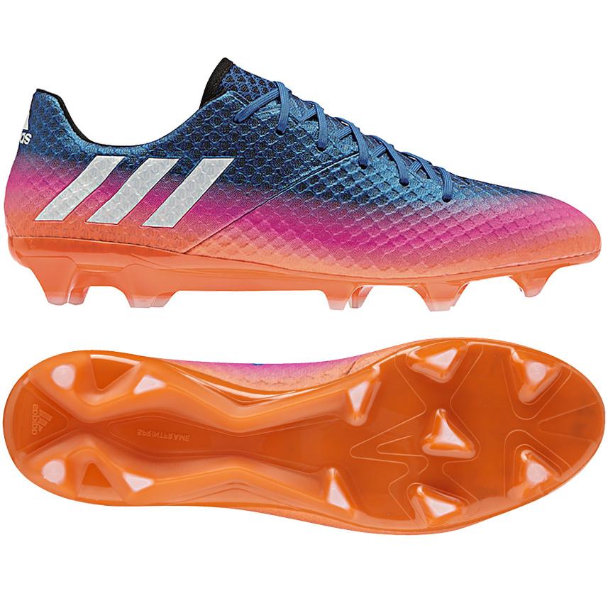 newest 84dfb 0ccb8 Das Bild wird geladen adidas-Messi-16-1-FG-Herren-Fussballschuhe- Nockenschuhe-