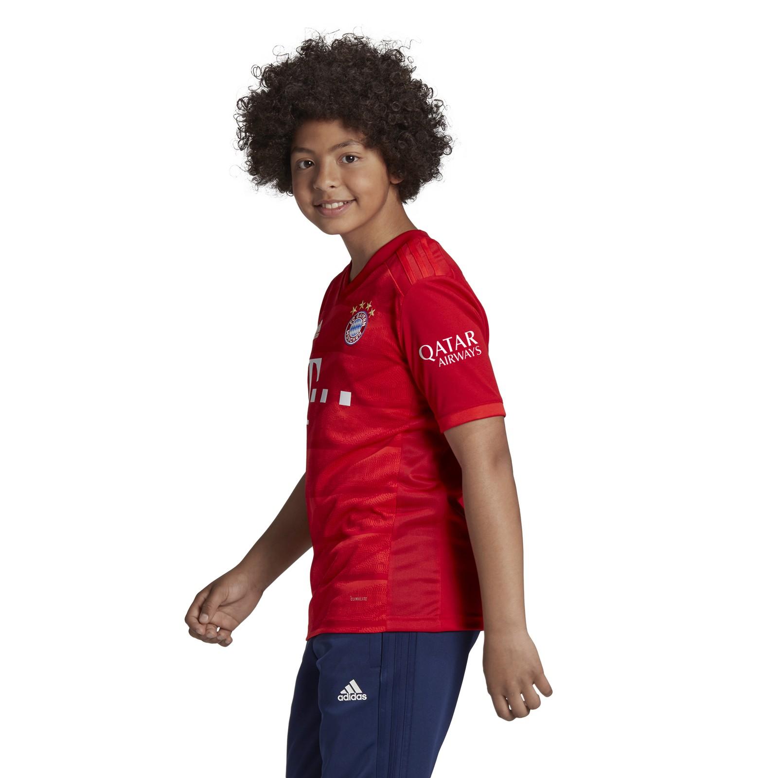 adidas-FC-Bayern-Muenchen-Heimtrikot-Kinder-2019-2020-Home-Jersey-rot-DX9253 Indexbild 16